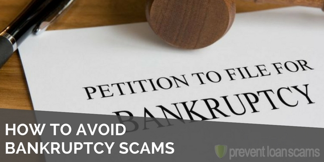 how to avoid bankruptcy scams