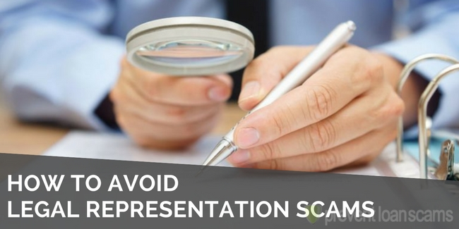 how to avoid legal representation scams