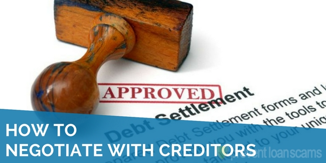 how to negotiate with creditors