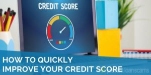 how to quickly improve your credit score