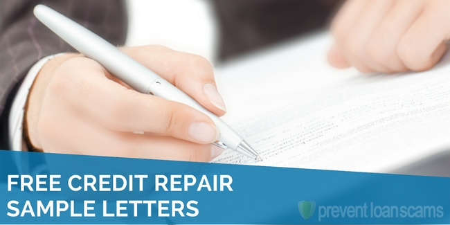 free credit repair sample letters