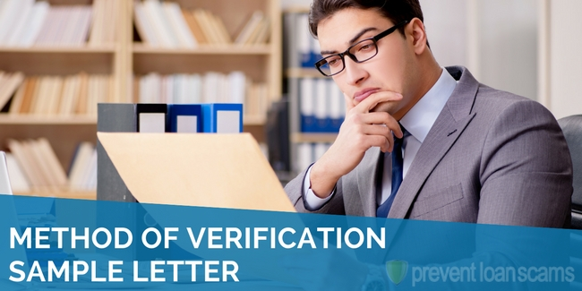 Method of Verification Sample Letter