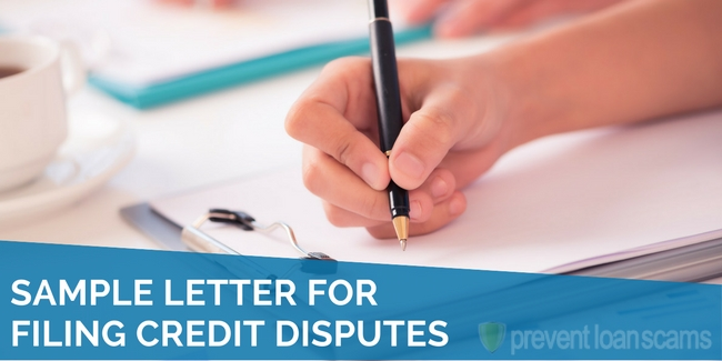 Sample Letter for Filing Credit Disputes