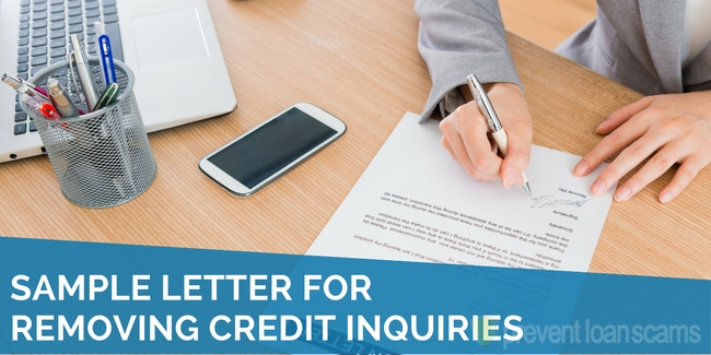 sample letter for removing credit inquiries