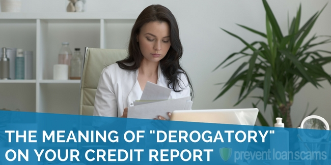 the meaning of derogatory on your credit report