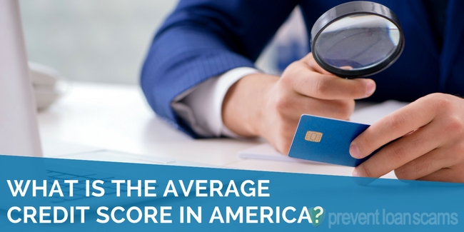 what is the average credit score in america
