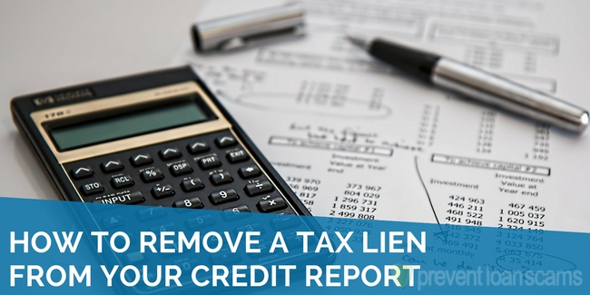 how to remove a tax lien from your credit report