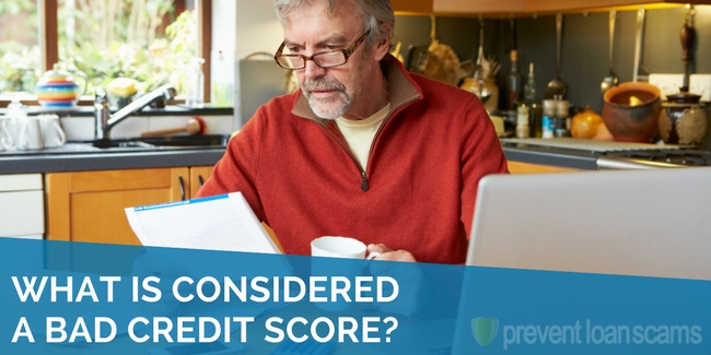 what is considered a bad credit score