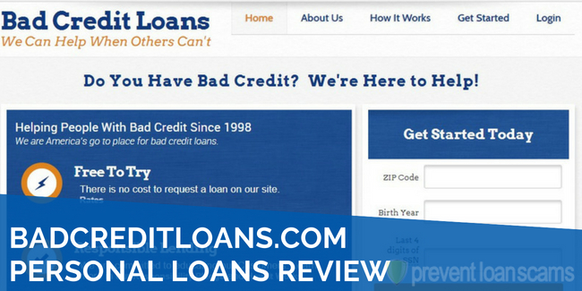 BadCreditLoans.com Personal Loans Review