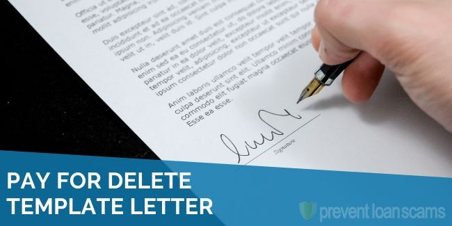 pay for delete template letter