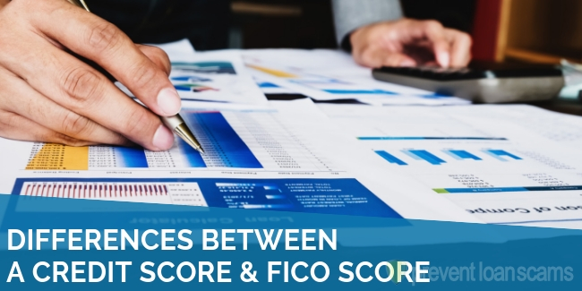 Differences Between a Credit Score & FICO Score