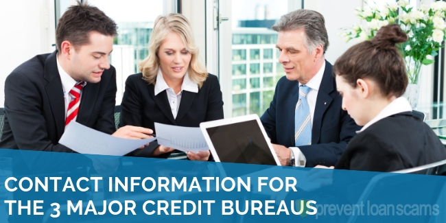 Contact Information for the 3 Major Credit Bureaus