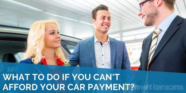 What to Do if You Can't Afford Your Car Payment